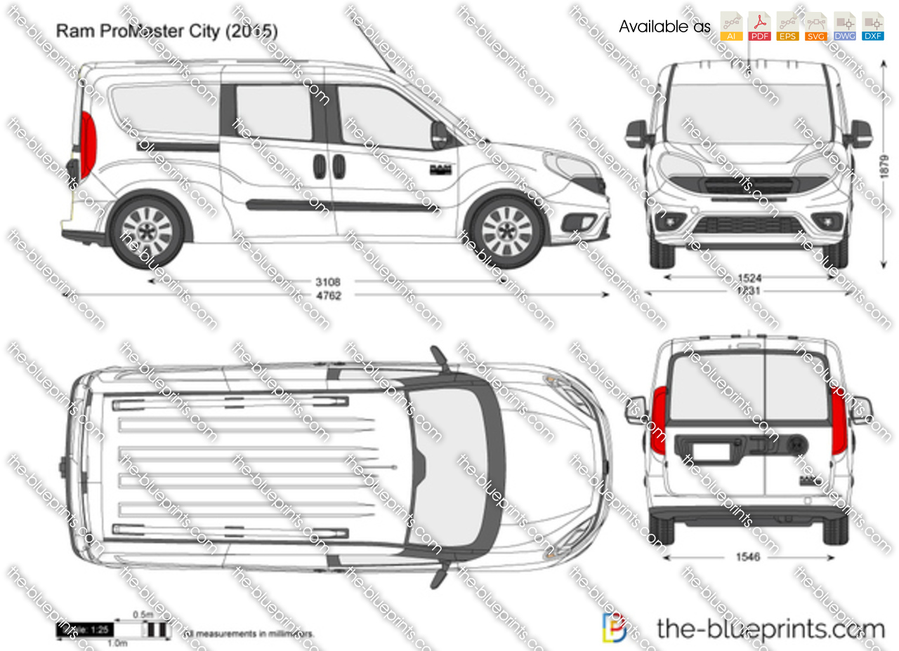 promaster dimensions drawings