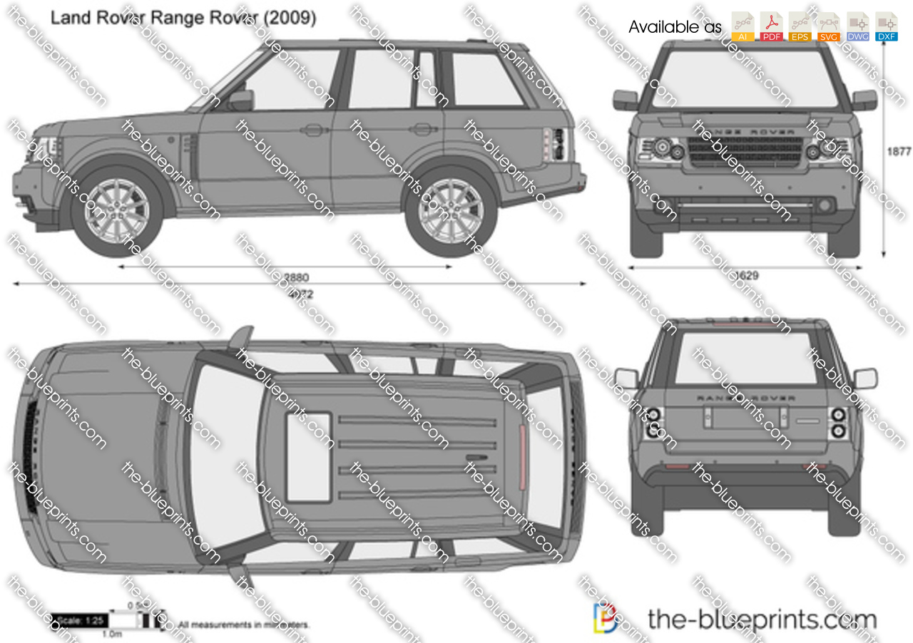 Range Rover Vector Drawing