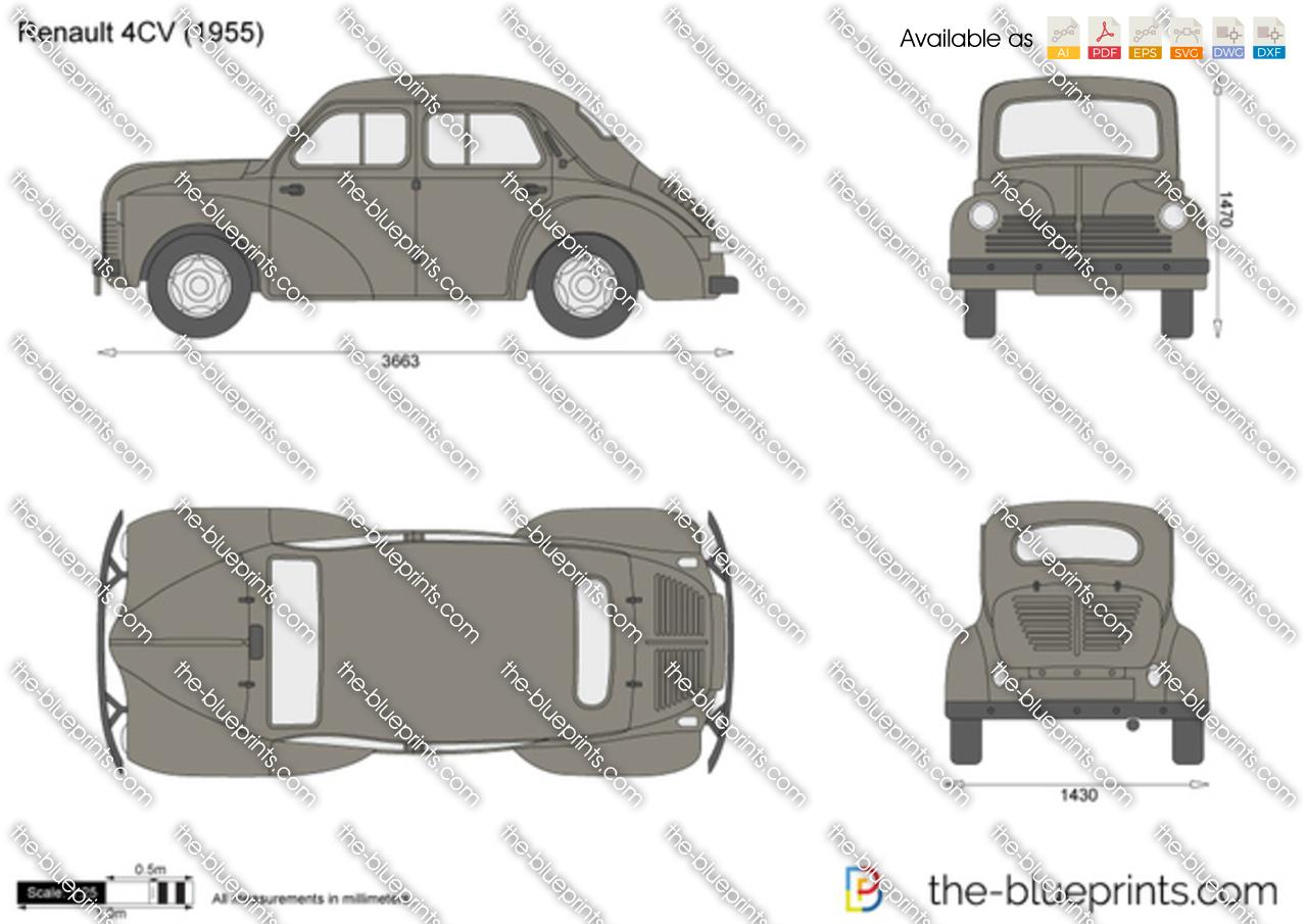 the vector drawing renault 4cv. Black Bedroom Furniture Sets. Home Design Ideas