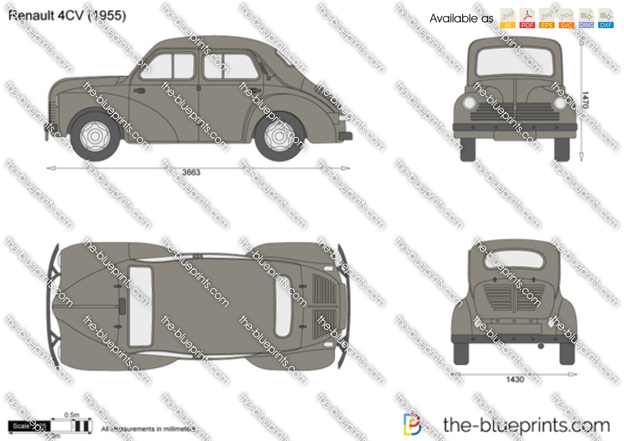renault 4cv vector drawing. Black Bedroom Furniture Sets. Home Design Ideas