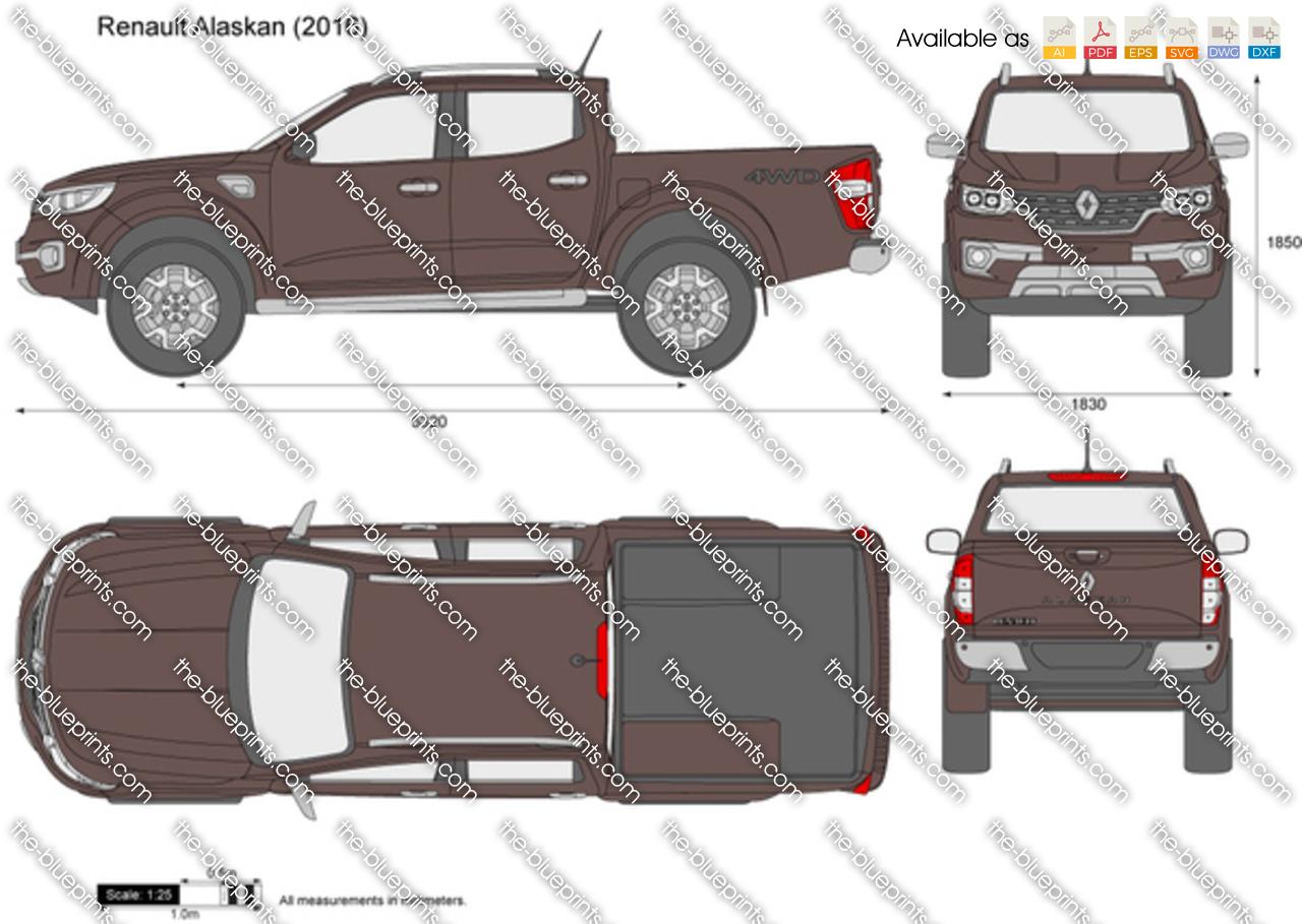 renault alaskan vector drawing. Black Bedroom Furniture Sets. Home Design Ideas