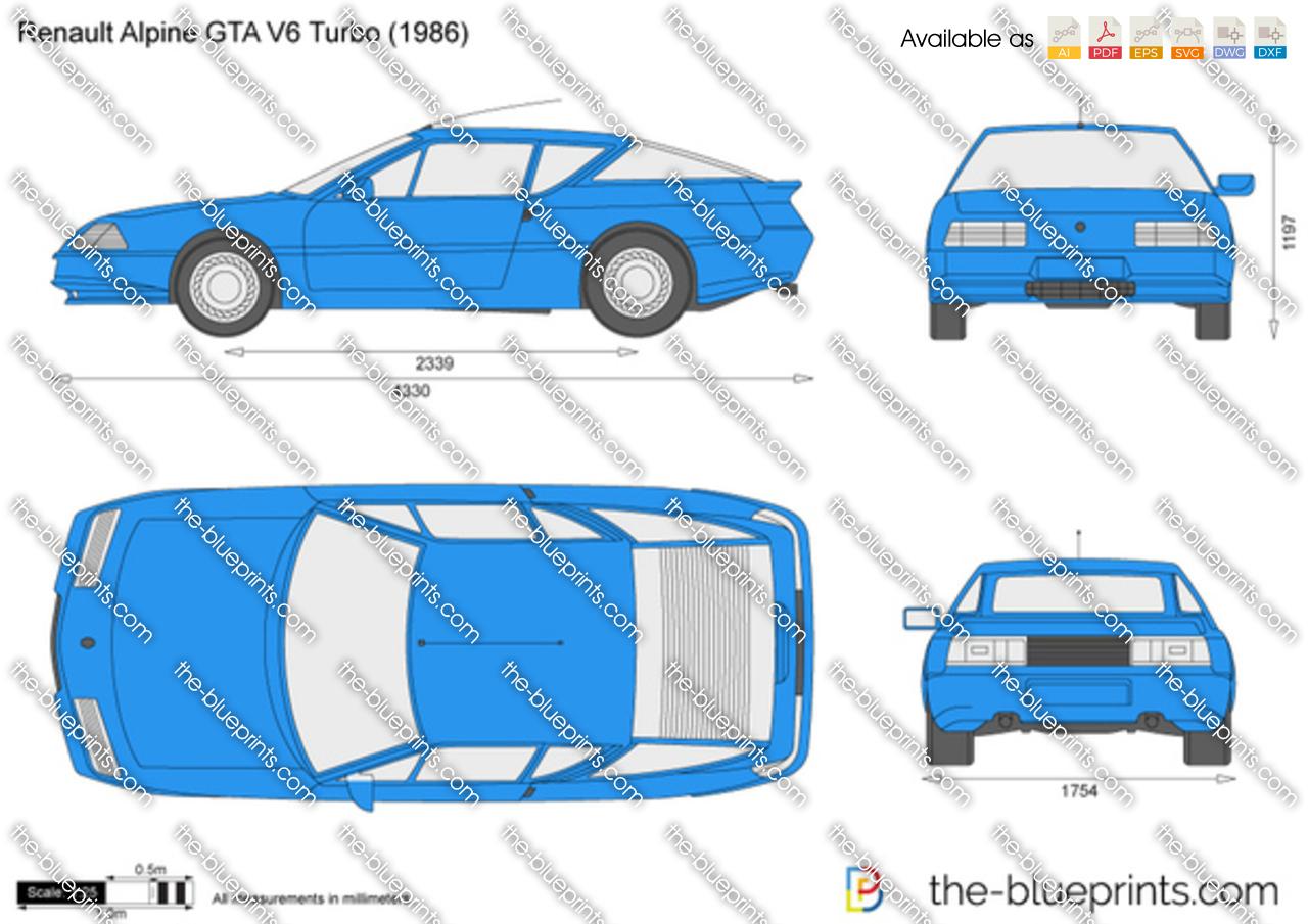 Renault Alpine GTA V6 Turbo 1990