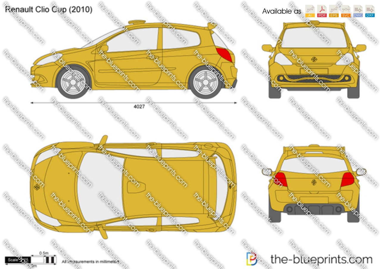 renault clio cup vector drawing. Black Bedroom Furniture Sets. Home Design Ideas