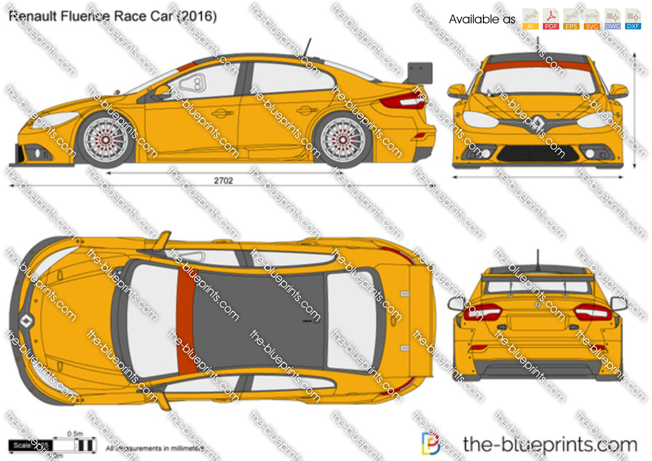 Renault fluence race car vector drawing renault fluence race car malvernweather Choice Image