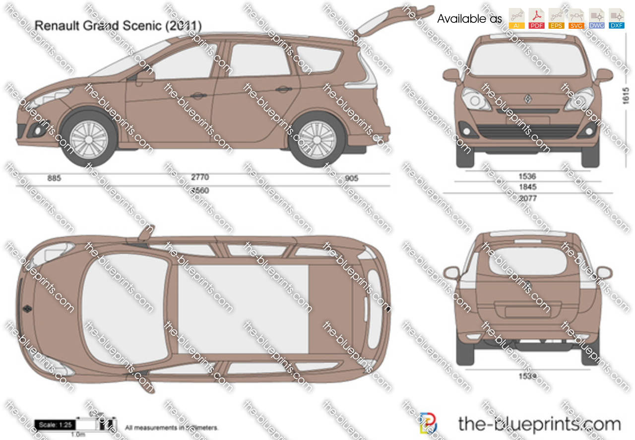the blueprints vector drawing renault grand scenic