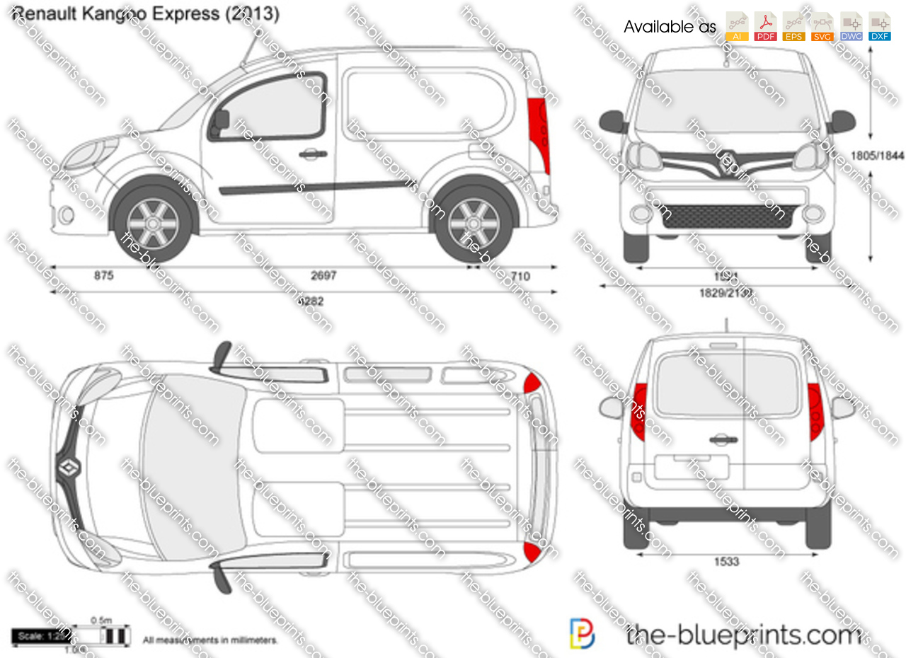 the vector drawing renault kangoo express. Black Bedroom Furniture Sets. Home Design Ideas