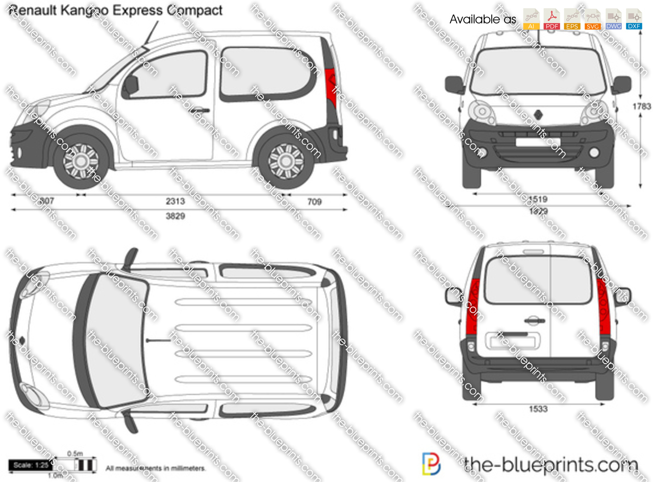 the vector drawing renault kangoo express compact. Black Bedroom Furniture Sets. Home Design Ideas