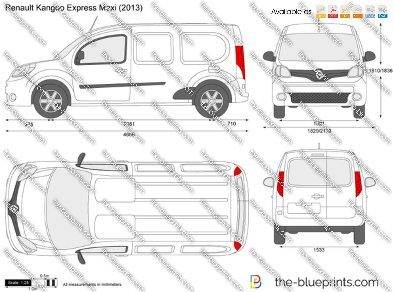 the vector drawing renault kangoo express maxi. Black Bedroom Furniture Sets. Home Design Ideas