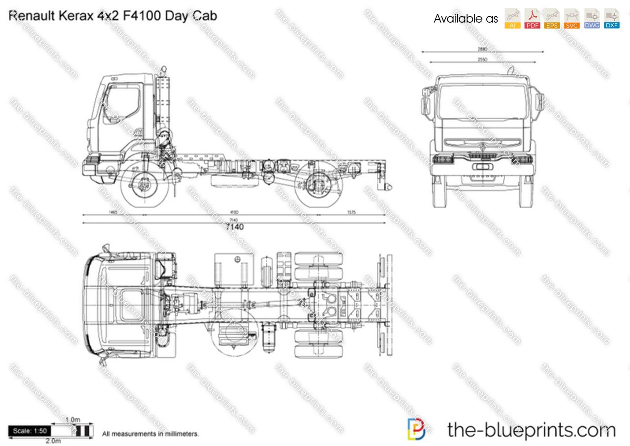 Renault Kerax 4x2 F4100 Day Cab
