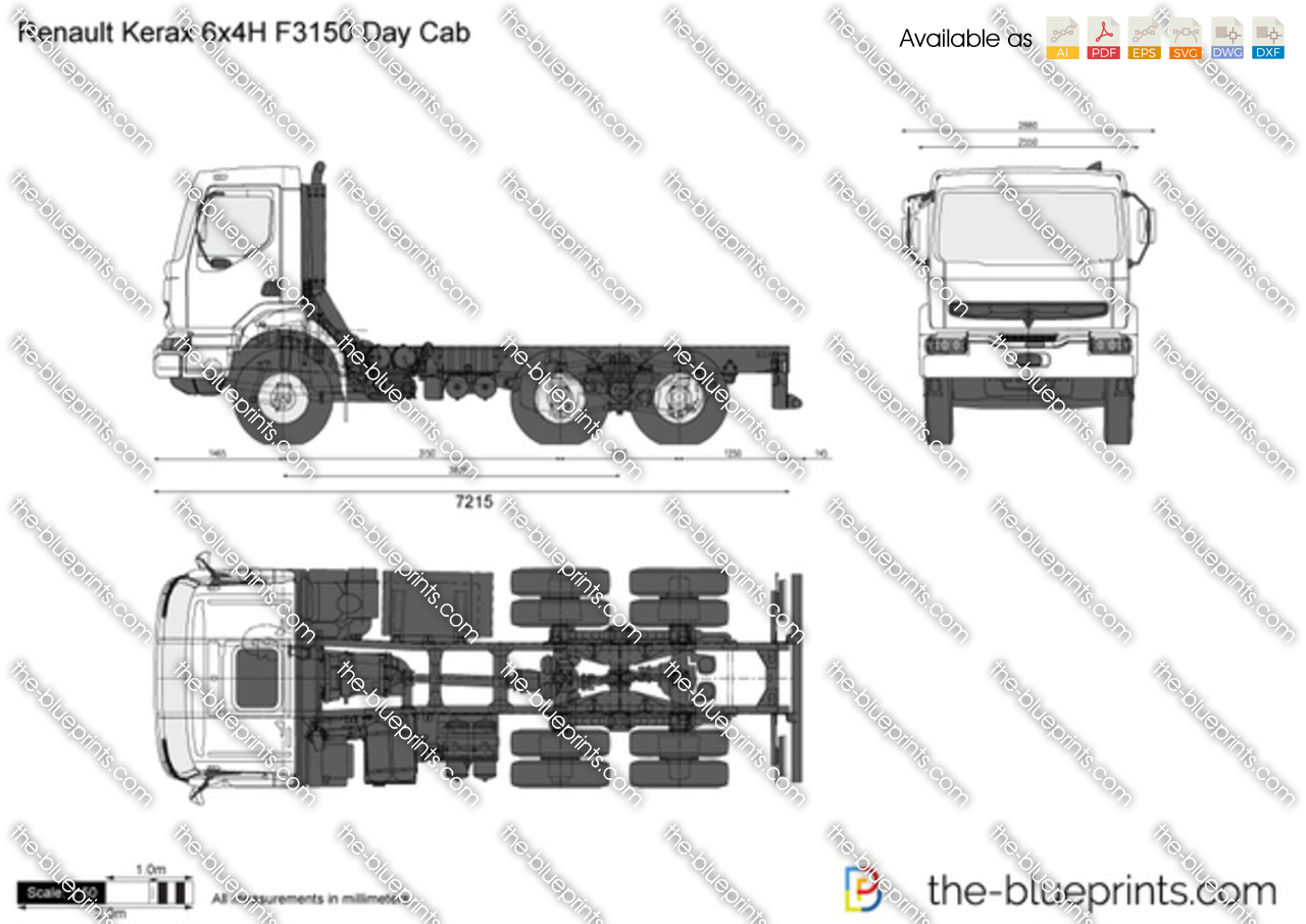 Renault Kerax 6x4H F3150 Day Cab