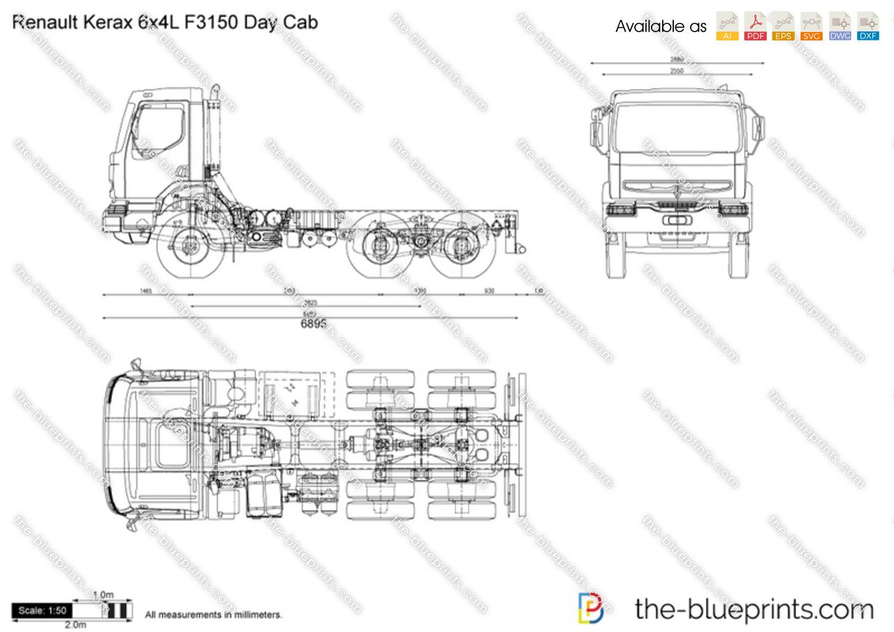 Renault Kerax 6x4L F3150 Day Cab