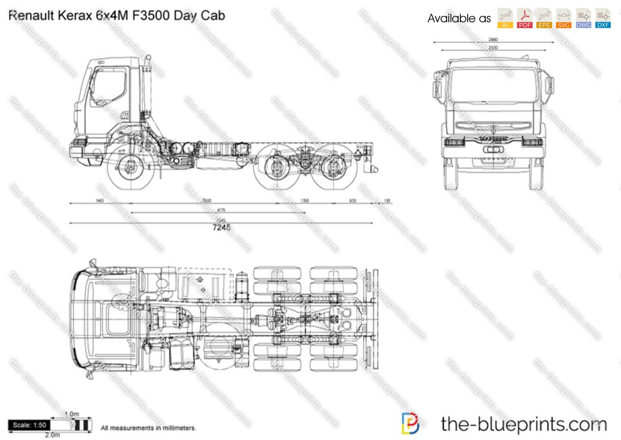 Renault Kerax 6x4M F3500 Day Cab