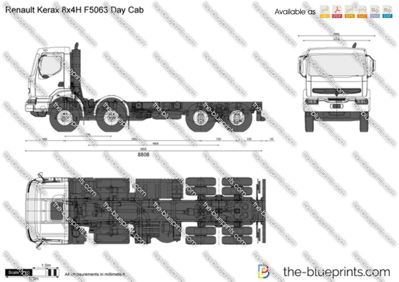 Renault Kerax 8x4H F5063 Day Cab
