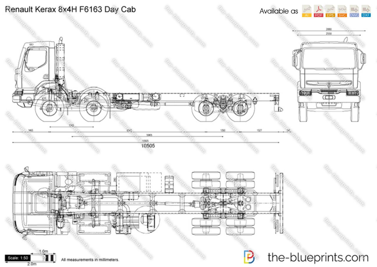 Renault Kerax 8x4H F6163 Day Cab