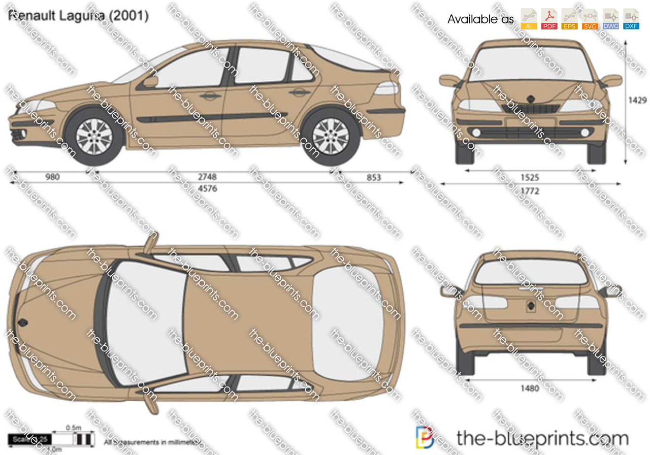 the vector drawing renault laguna. Black Bedroom Furniture Sets. Home Design Ideas
