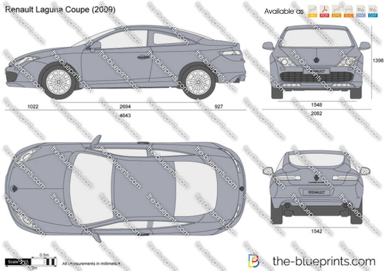 the vector drawing renault laguna coupe. Black Bedroom Furniture Sets. Home Design Ideas