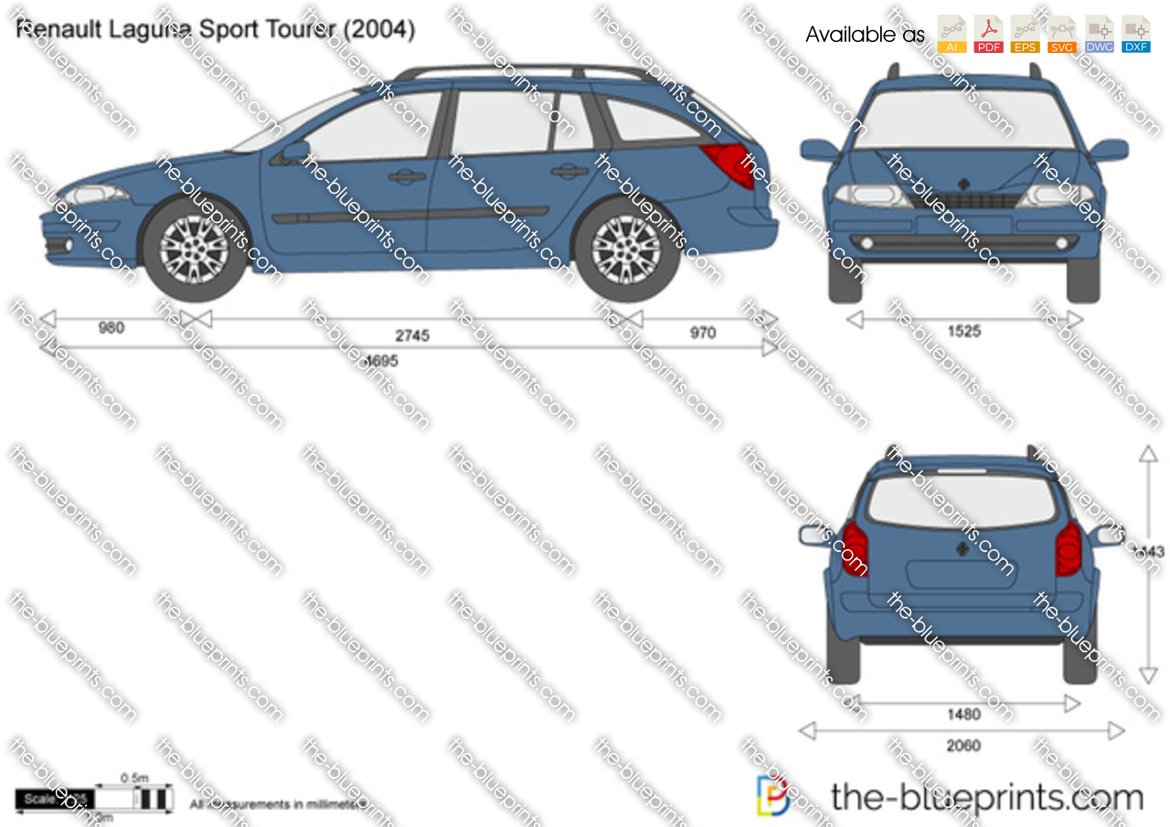 renault laguna sport tourer vector drawing. Black Bedroom Furniture Sets. Home Design Ideas