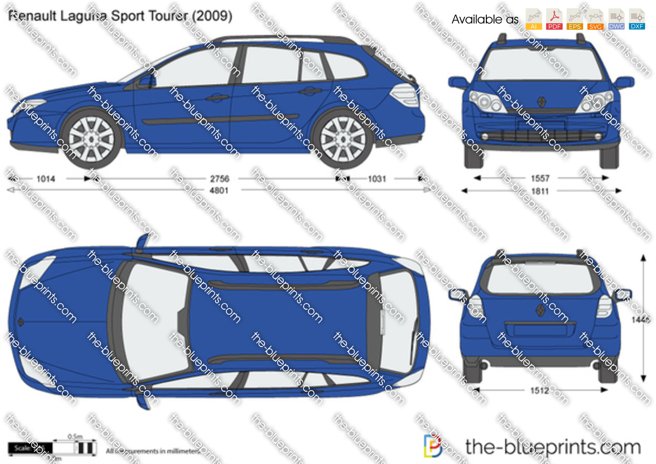 the vector drawing renault laguna sport. Black Bedroom Furniture Sets. Home Design Ideas