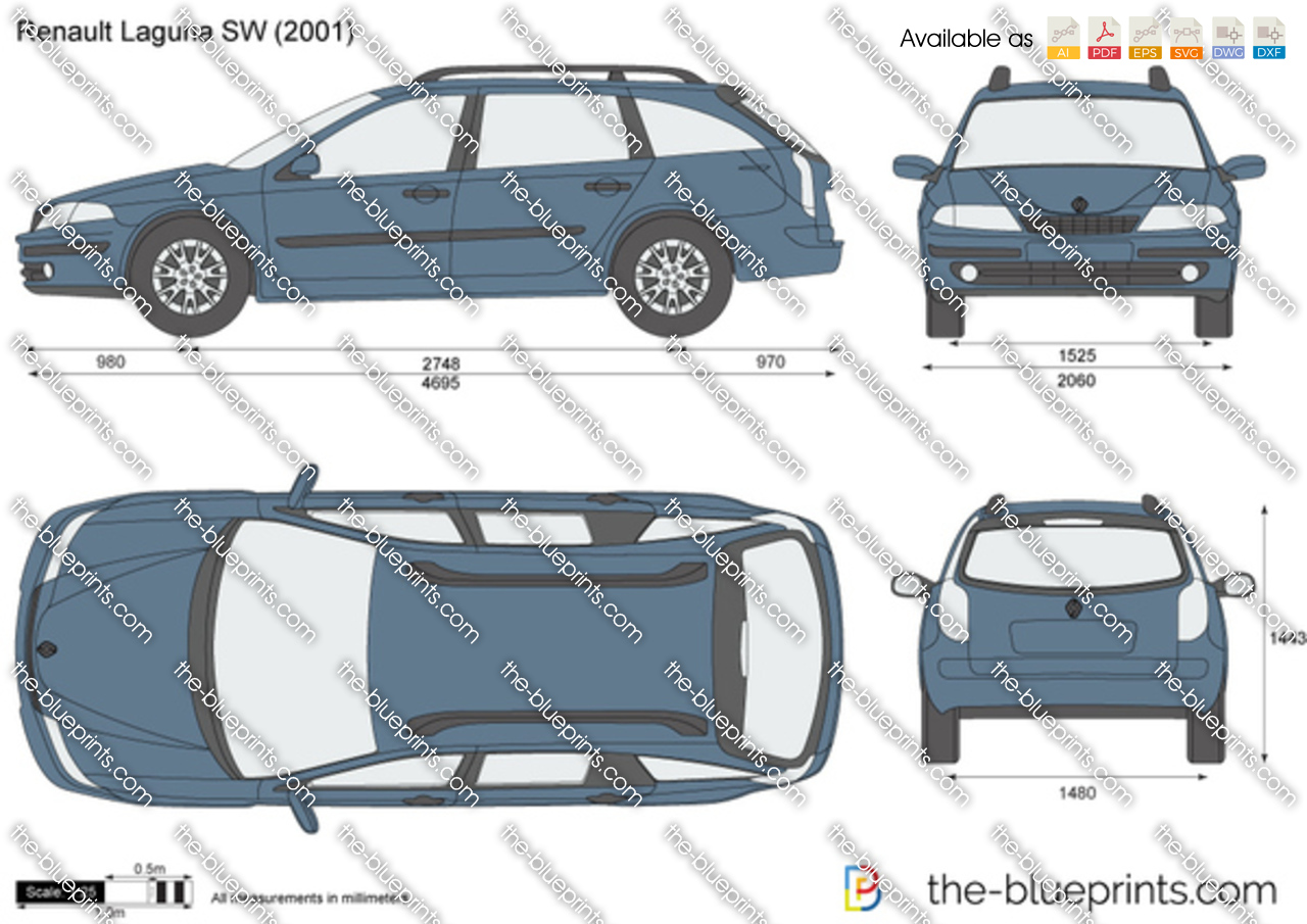 the vector drawing renault laguna sw. Black Bedroom Furniture Sets. Home Design Ideas