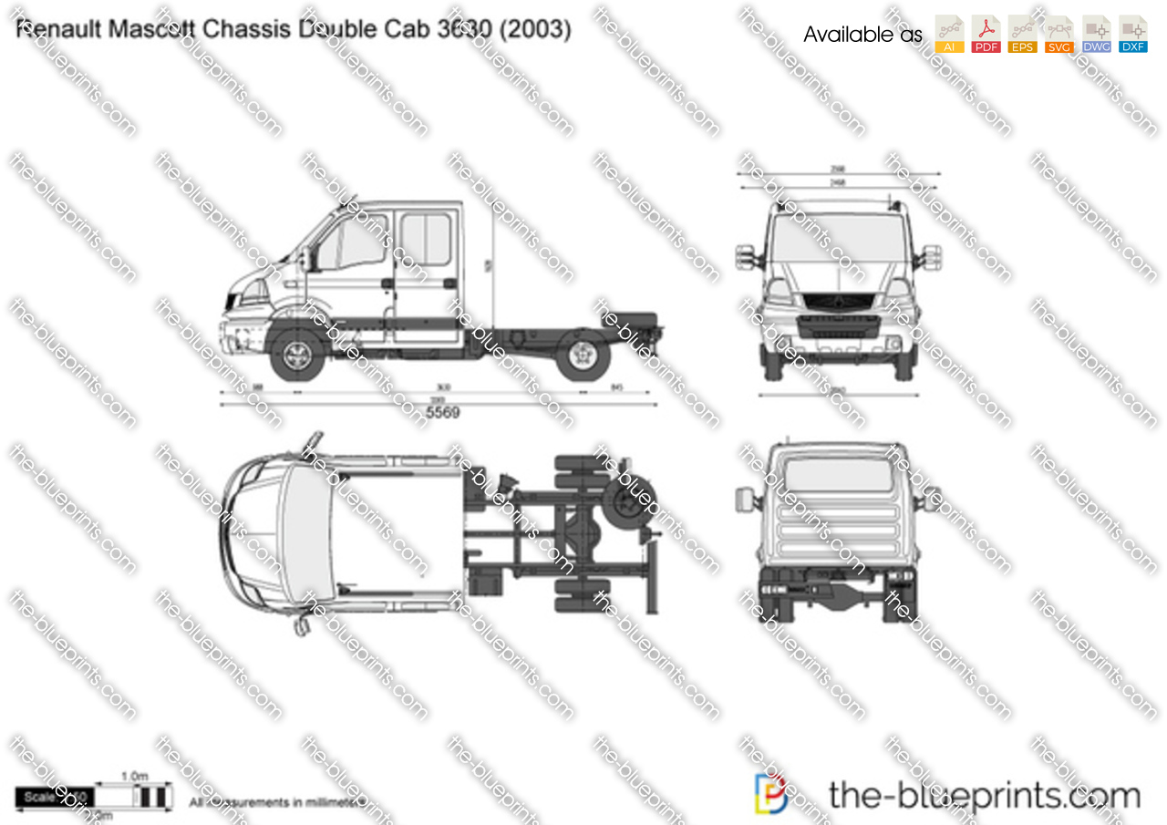 Renault Mascott Chassis Double Cab 3630