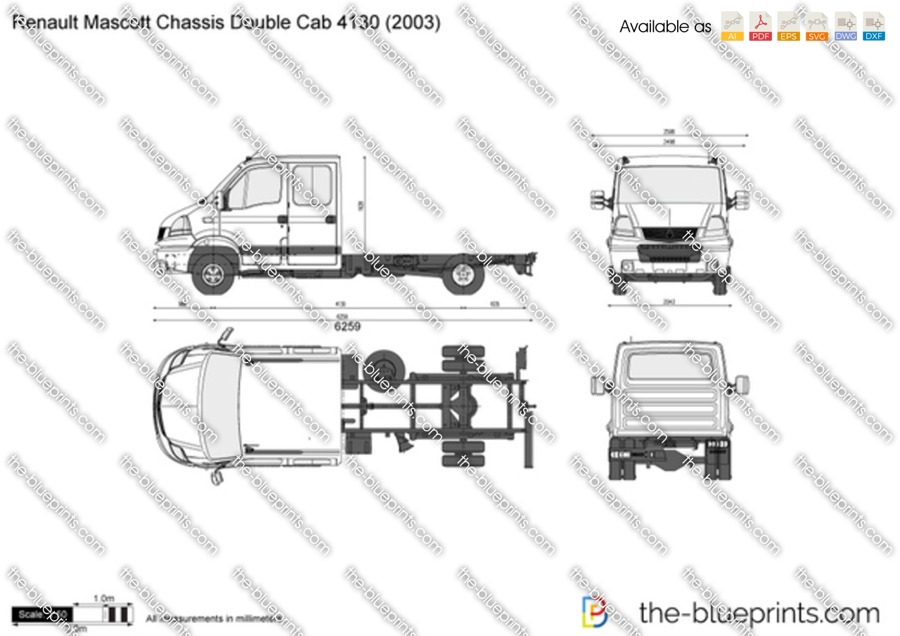 Renault Mascott Chassis Double Cab 4130