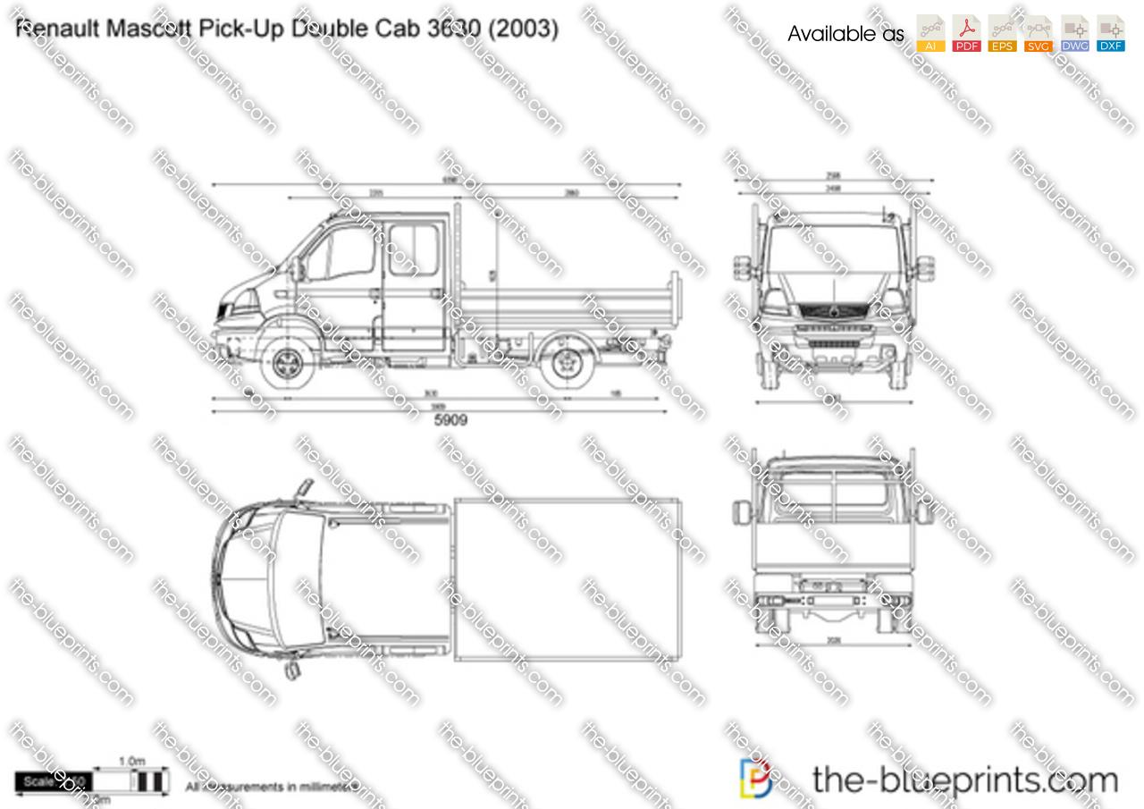 Renault Mascott Pick-Up Double Cab 3630