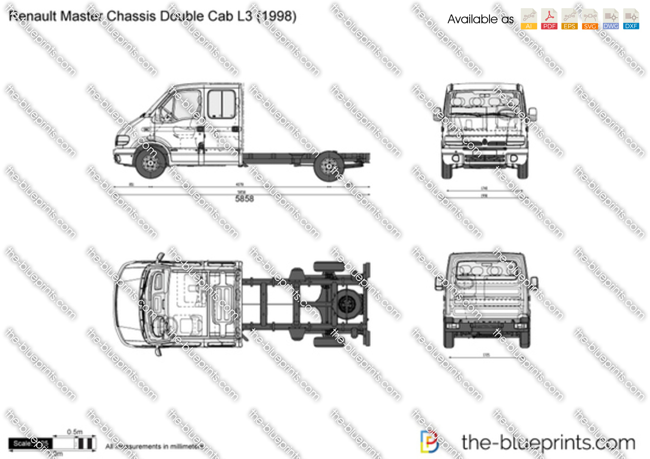 Renault Master Chassis Double Cab L3