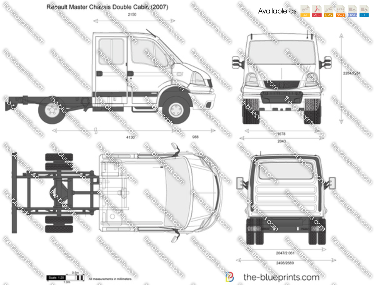 Renault Master Chassis Double Cabin 2004