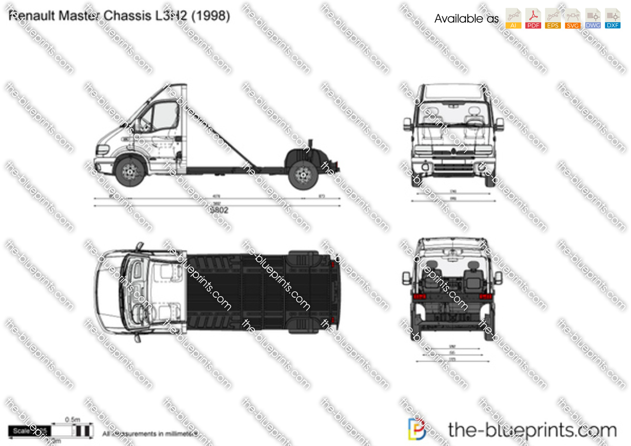 Renault Master Chassis L3H2 1999