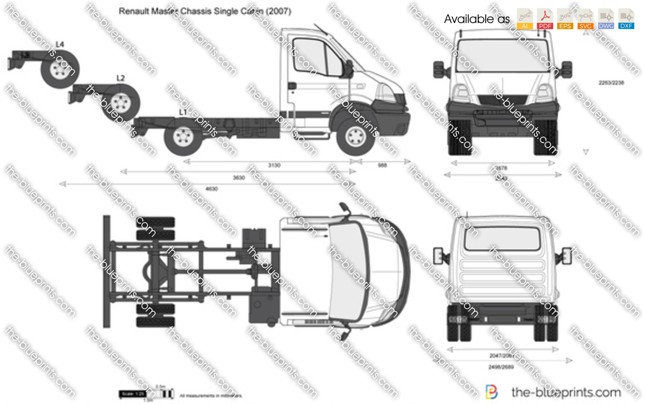 Renault Master Chassis Single Cabin