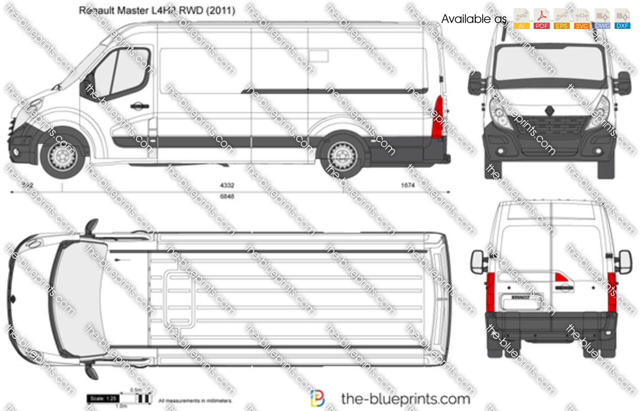 renault master l4h2 rwd vector drawing paid clipart free pain clip art