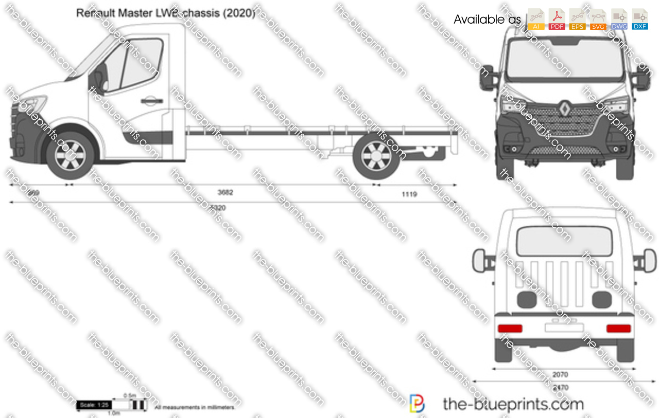 Renault Master LWB chassis