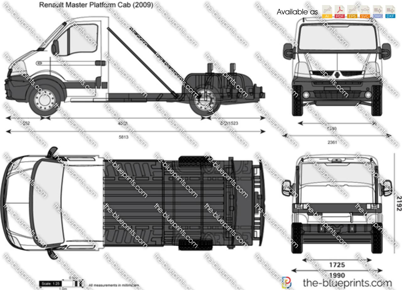 the vector drawing renault master platform cab. Black Bedroom Furniture Sets. Home Design Ideas