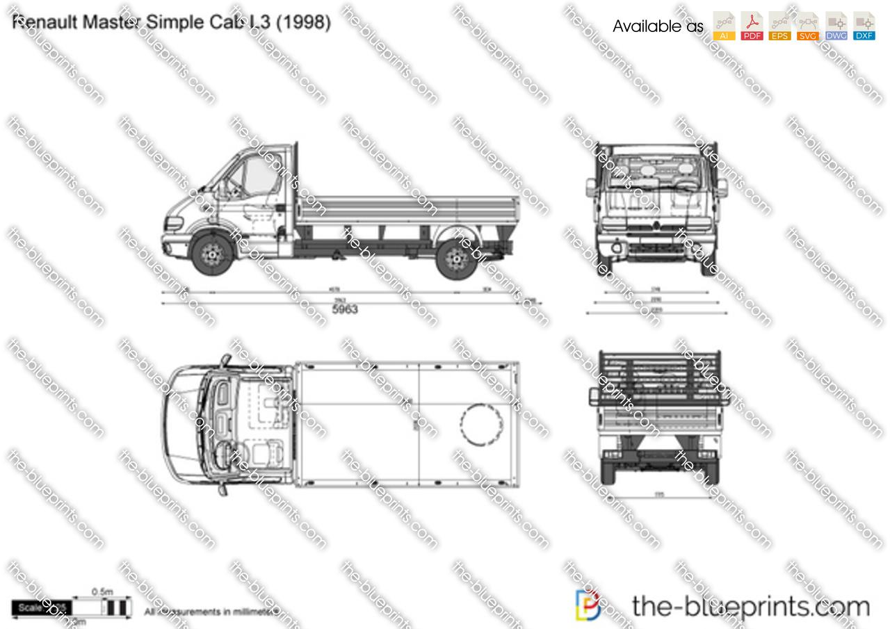 the vector drawing renault master simple cab l3. Black Bedroom Furniture Sets. Home Design Ideas