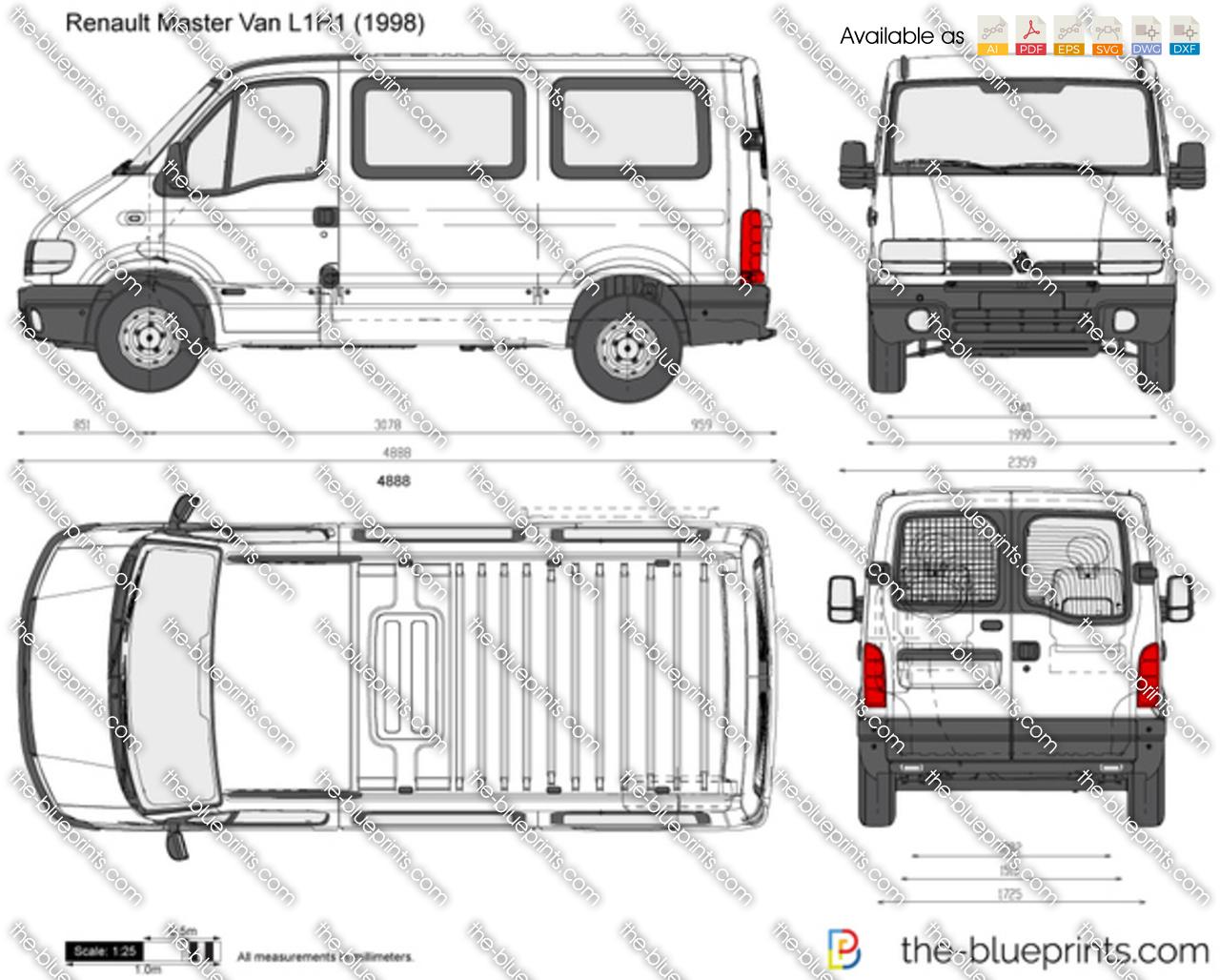 renault master van l1h1 vector drawing. Black Bedroom Furniture Sets. Home Design Ideas