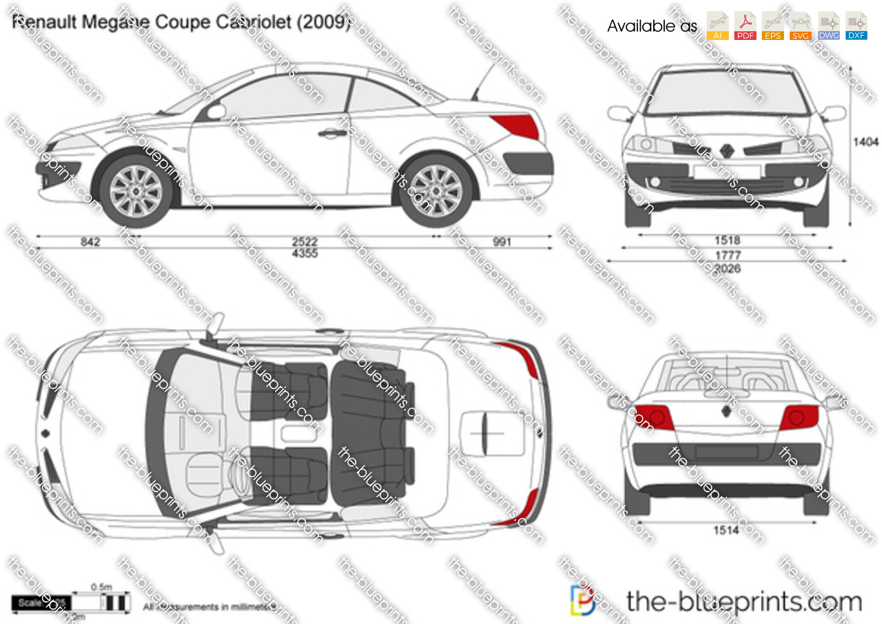 the vector drawing renault megane coupe cabriolet. Black Bedroom Furniture Sets. Home Design Ideas