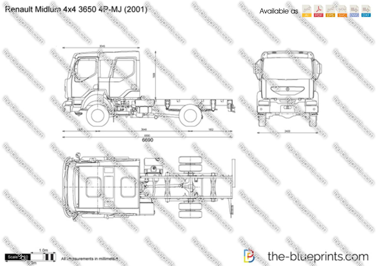 Renault Midlum 4x4 3650 4P-MJ