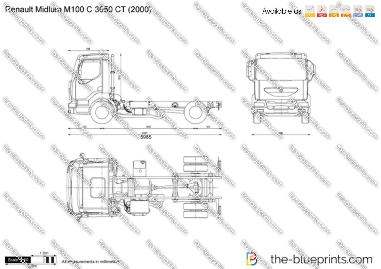 Renault Midlum M100 C 3650 CT