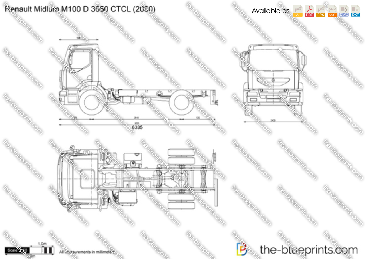 Renault Midlum M100 D 3650 CTCL