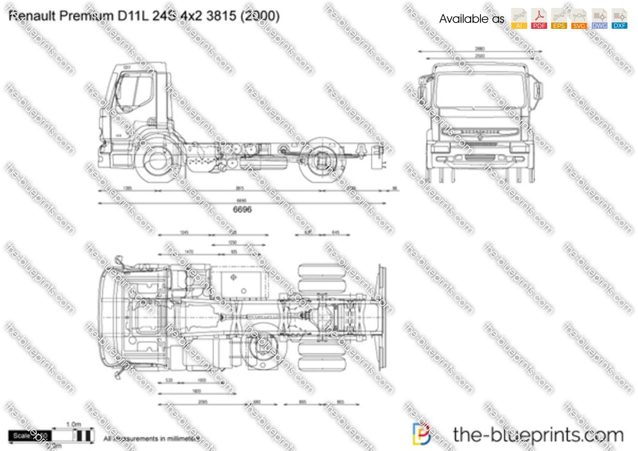Renault Premium D11L 24S 4x2 3815