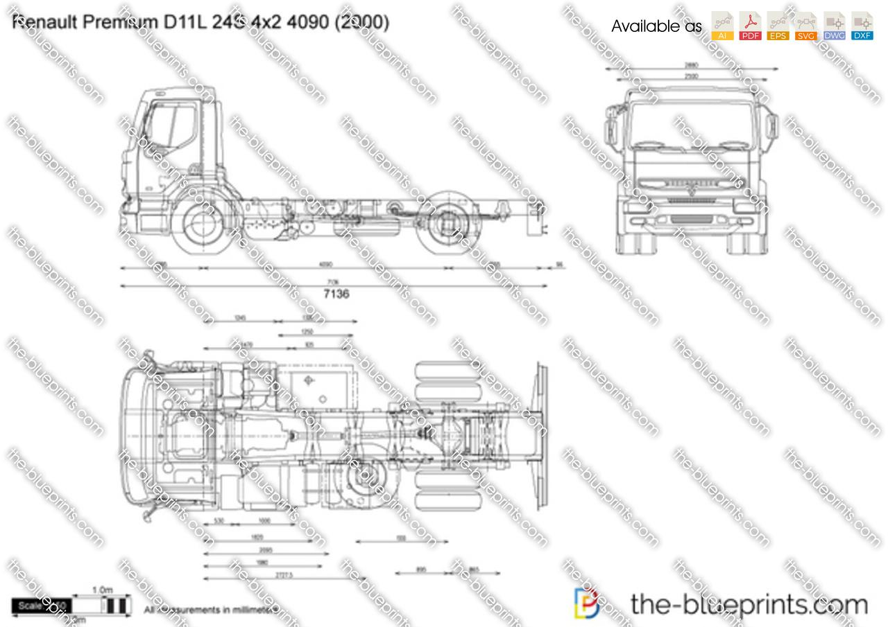Renault Premium D11L 24S 4x2 4090