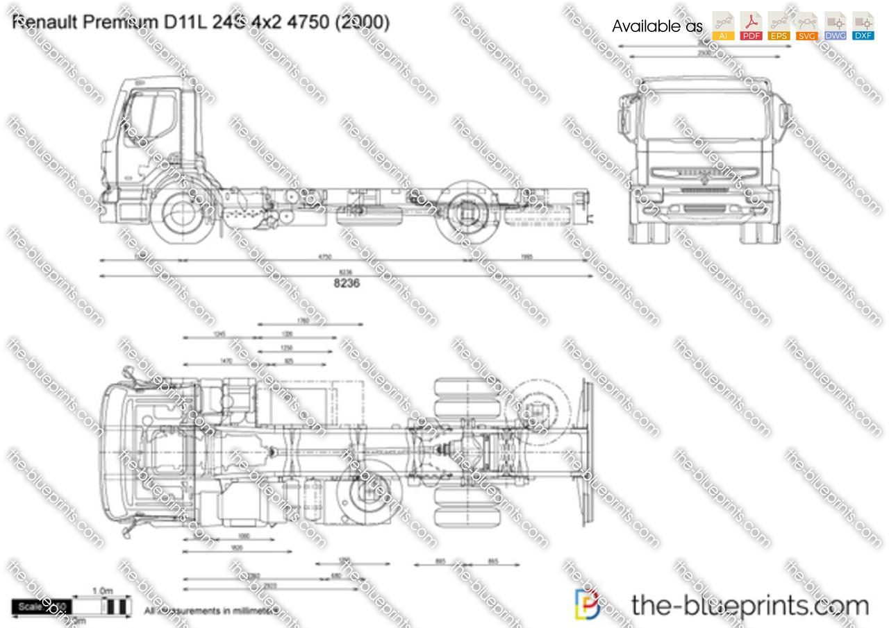 Renault Premium D11L 24S 4x2 4750
