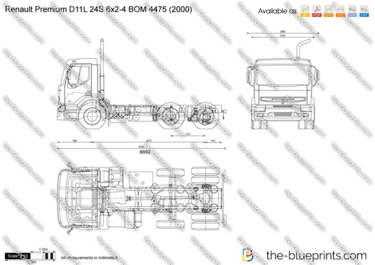 Renault Premium D11L 24S 6x2-4 BOM 4475