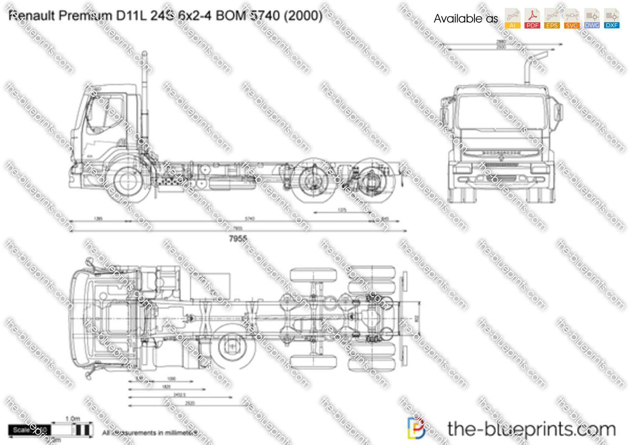 Renault Premium D11L 24S 6x2-4 BOM 5740