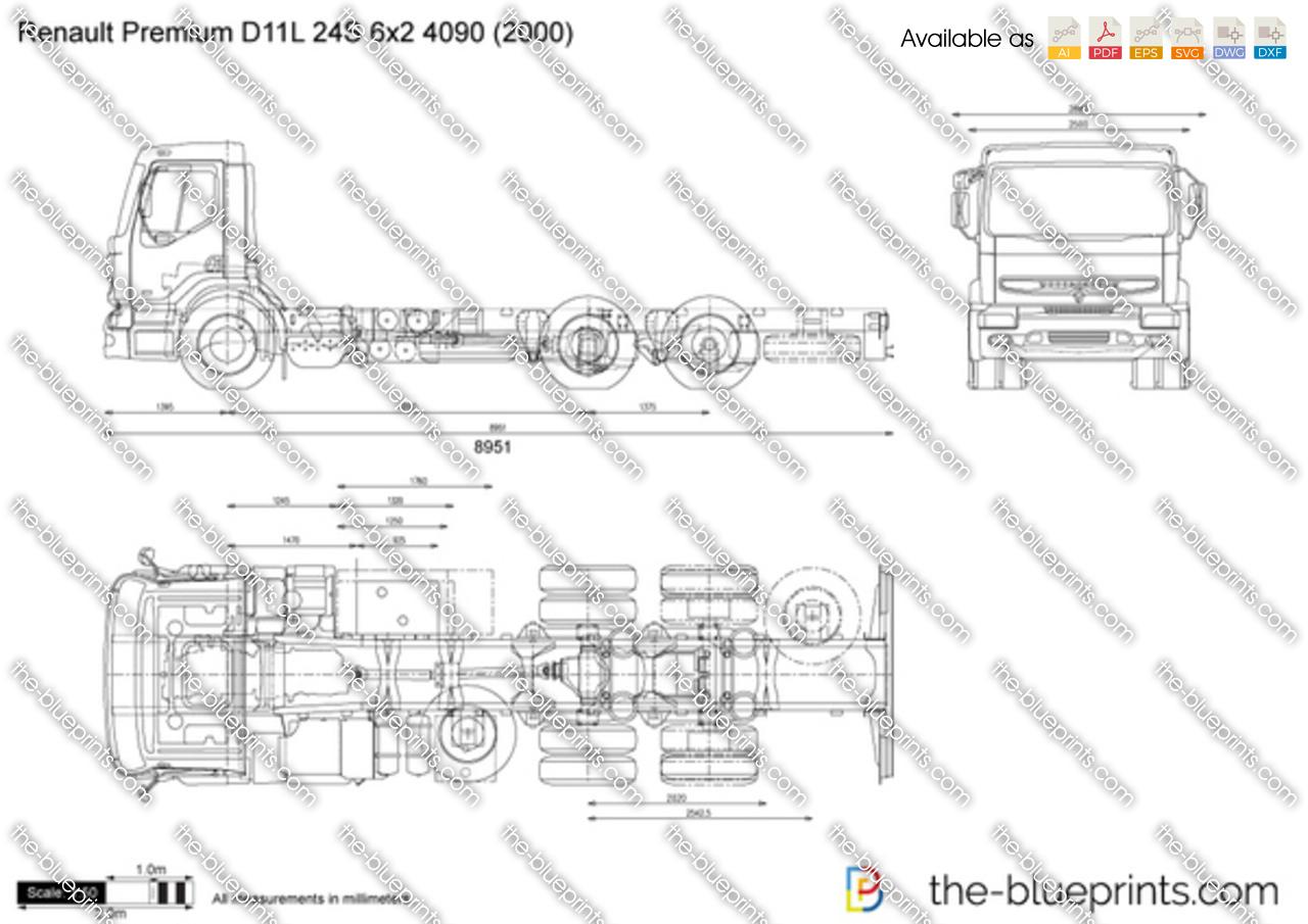 Renault Premium D11L 24S 6x2 4090