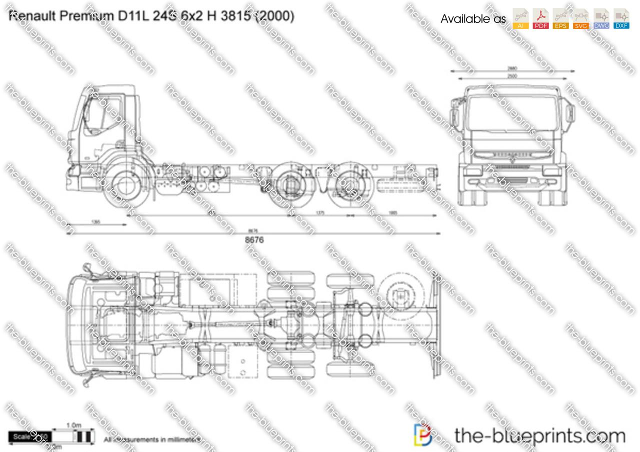 Renault Premium D11L 24S 6x2 H 3815
