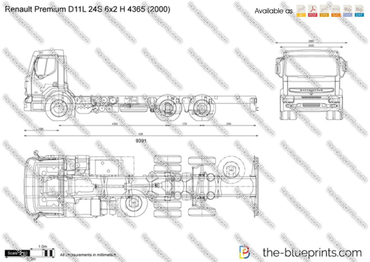 Renault Premium D11L 24S 6x2 H 4365