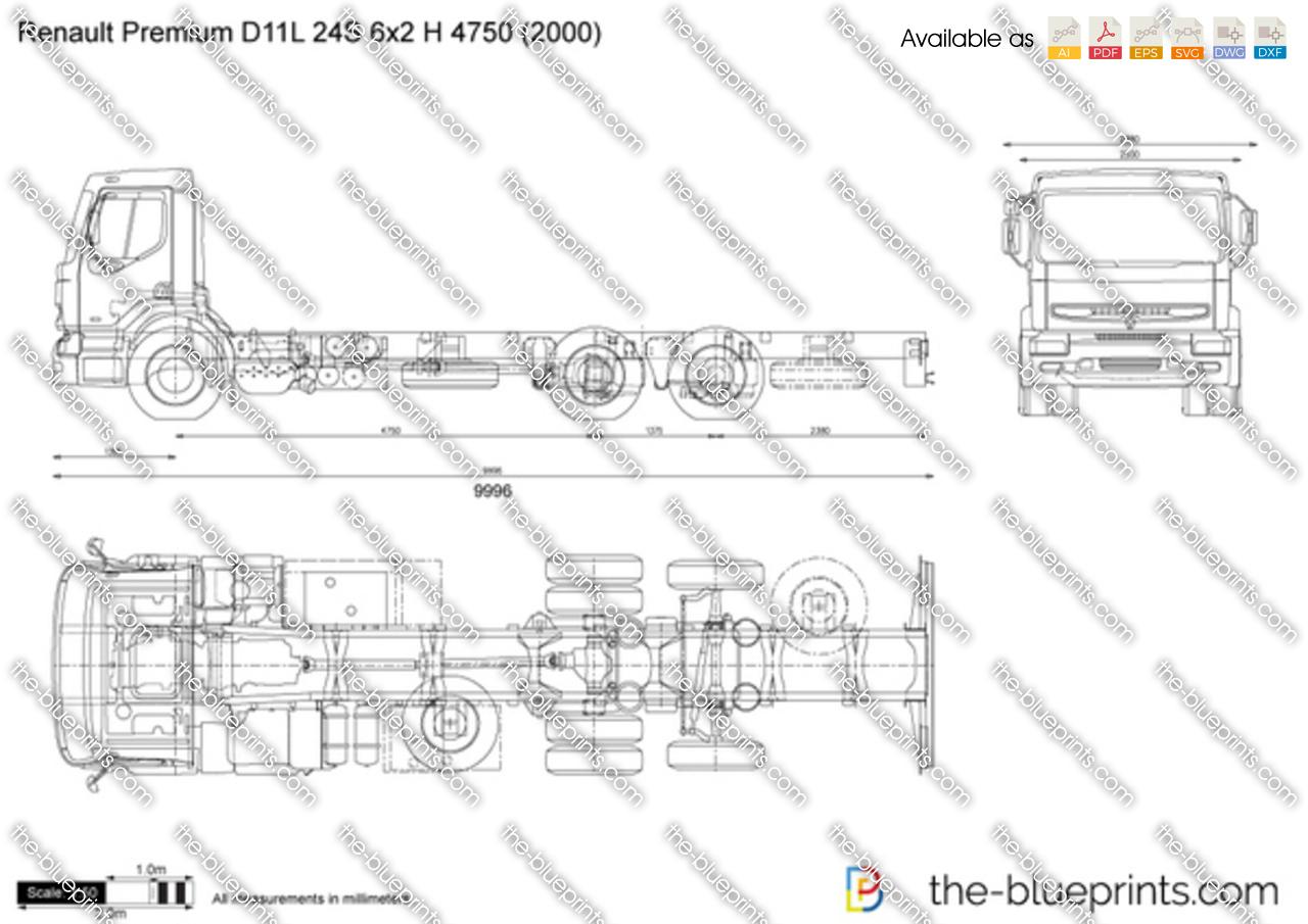 Renault Premium D11L 24S 6x2 H 4750