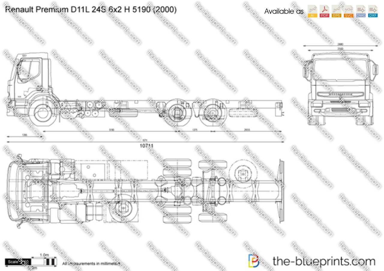 Renault Premium D11L 24S 6x2 H 5190