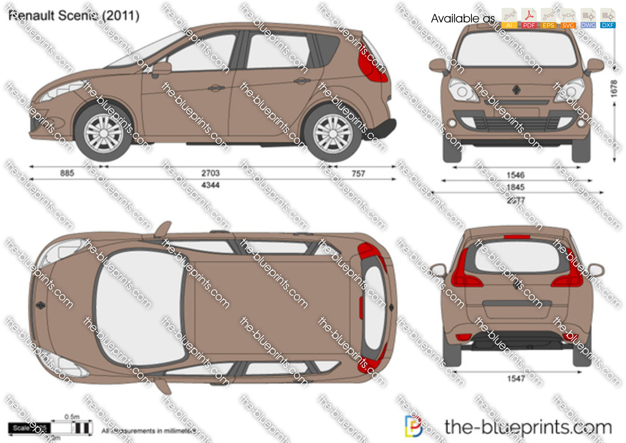 the vector drawing renault scenic. Black Bedroom Furniture Sets. Home Design Ideas